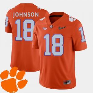 Clemson National Championship #18 Men's Jadar Johnson Jersey Orange 2018 ACC College Football Player 344689-488