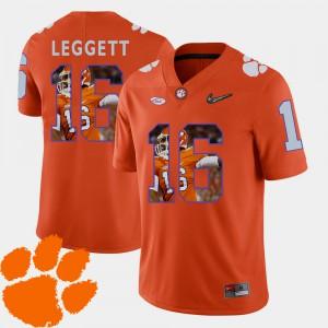 CFP Champs #16 For Men's Jordan Leggett Jersey Orange Football Pictorial Fashion Alumni 459645-416