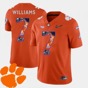 CFP Champs #7 Men's Mike Williams Jersey Orange NCAA Pictorial Fashion Football 836978-123