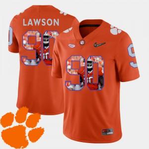 Clemson Tigers #90 Mens Shaq Lawson Jersey Orange Football Pictorial Fashion Embroidery 660327-205