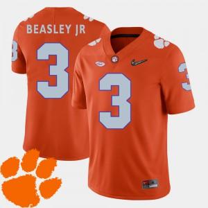 Clemson Tigers #3 Men's Vic Beasley Jr. Jersey Orange 2018 ACC College Football Official 889439-534