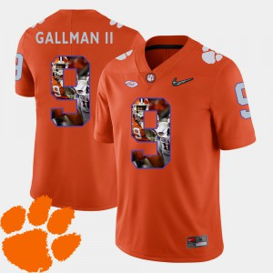 Clemson Tigers #9 For Men Wayne Gallman II Jersey Orange Player Football Pictorial Fashion 982175-817