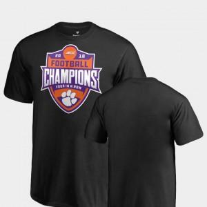 Clemson National Championship Kids T-Shirt Black Embroidery 2018 ACC Football Champions Big & Tall 812491-261