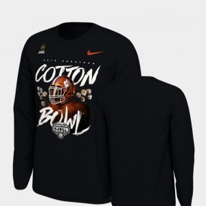 Clemson For Kids T-Shirt Black Player 2018 Cotton Bowl Bound Illustrated Helmet Long Sleeve College Football Playoff 468653-351