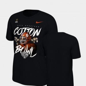 Clemson Tigers Youth(Kids) T-Shirt Black Illustrated Helmet College Football Playoff 2018 Cotton Bowl Bound NCAA 674161-831