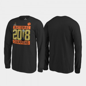 Clemson Tigers Youth(Kids) T-Shirt Black Player Pitch Long Sleeve College Football Playoff 2018 National Champions 656608-998