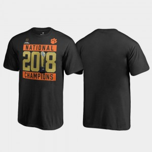 Clemson Tigers Youth(Kids) T-Shirt Black Pitch Trophy College Football Playoff 2018 National Champions NCAA 952936-803