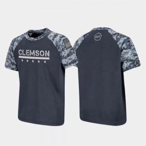 Clemson National Championship Kids T-Shirt Charcoal Stitch Raglan Digital Camo OHT Military Appreciation 667988-900