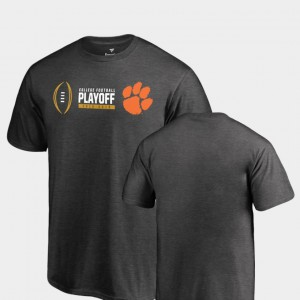 Clemson Youth T-Shirt Heather Gray University Cadence 2018 College Football Playoff Bound 510837-733