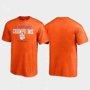 Clemson Kids T-Shirt Orange University Hitch College Football Playoff 2018 National Champions 945317-116