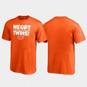 Clemson Tigers Kids T-Shirt Orange High School We Got Twins College Football Playoff 2018 National Champions 421995-590