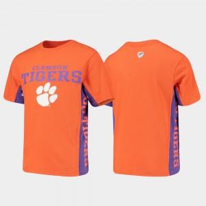 Clemson University Kids T-Shirt Orange Side Bar Official 135115-207