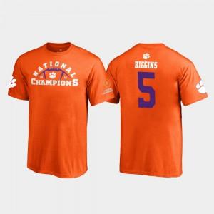 Clemson Tigers #5 Youth Tee Higgins T-Shirt Orange Pylon 2018 National Champions NCAA 128853-893