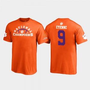 Clemson National Championship #9 Kids Travis Etienne T-Shirt Orange Embroidery Pylon 2018 National Champions 851398-635