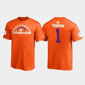 Clemson Tigers #1 Youth(Kids) Trevion Thompson T-Shirt Orange NCAA Pylon 2018 National Champions 221088-498